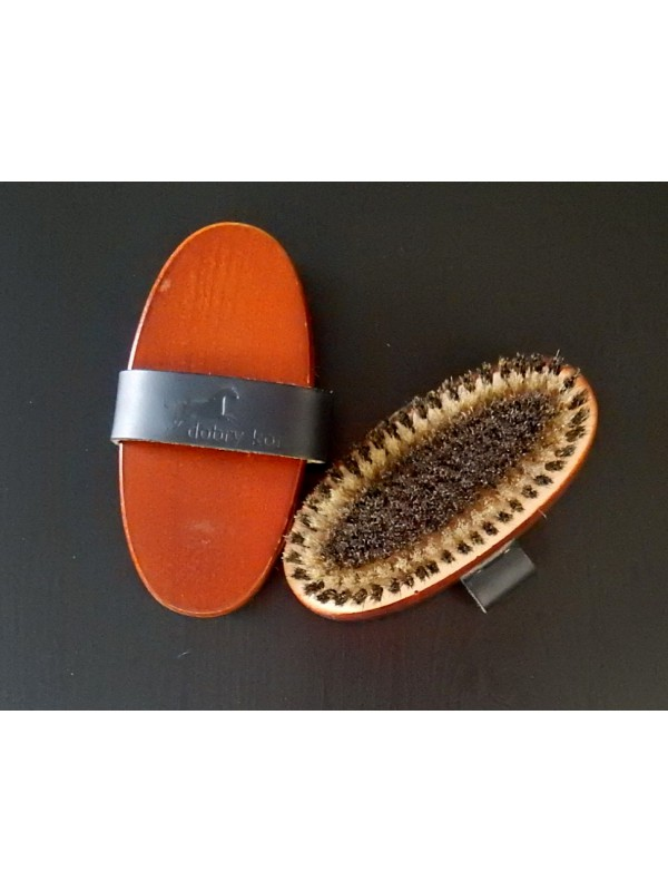 DOBRY KOŃ, Szczotka naturalny włos, M, 16,5cm