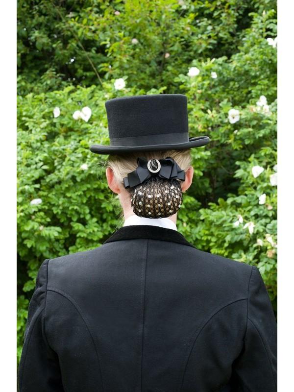 HAPPY ROSS, Siatka na włosy z kryształkami i broszką