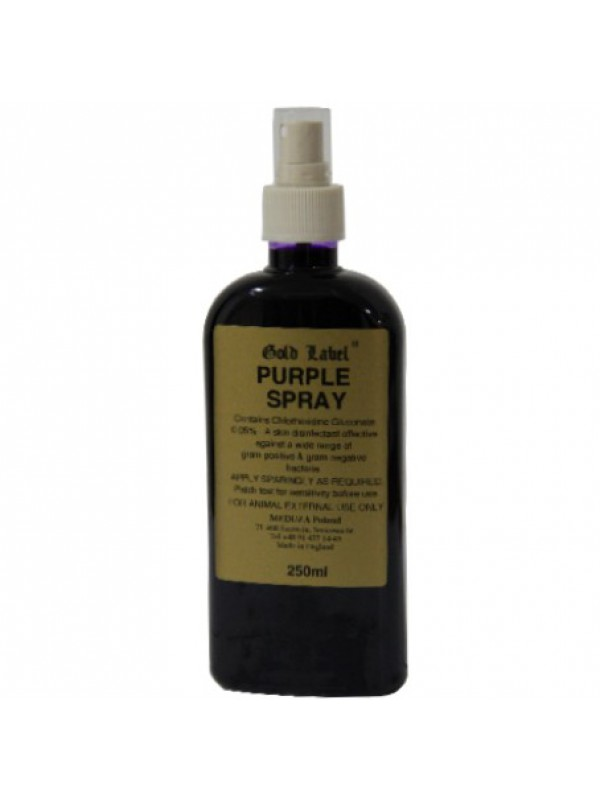 Gold Label Purple Spray preparat odkażający na otarcia i rany 250ml