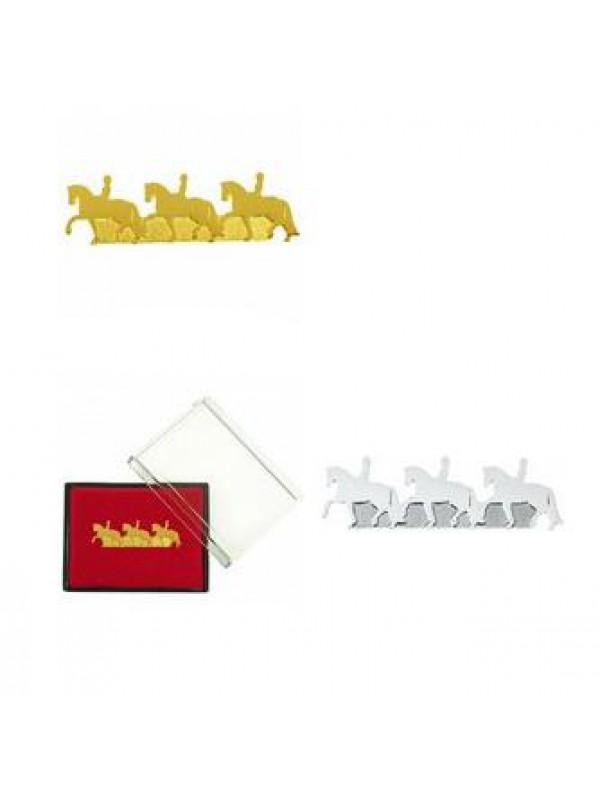 Broszka HR trzy konie dresażowe