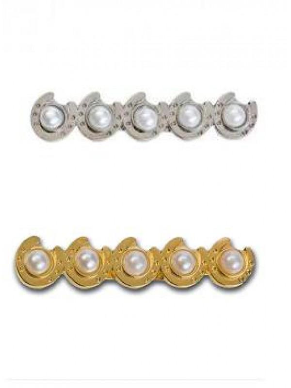 Broszka HR podkowy z perłami