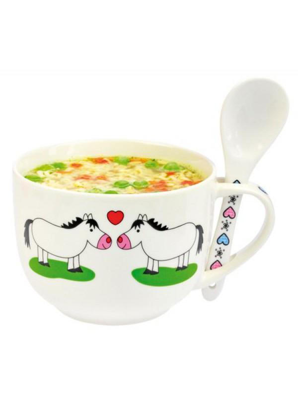 HAPPY ROSS, Miska do zupy z konikami