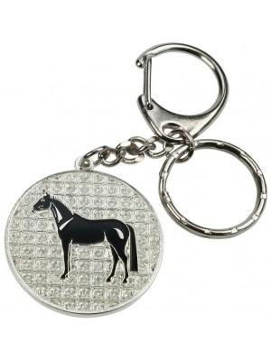 HAPPY ROSS, Breloczek Koń świecący z kryształkami