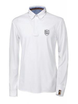 PIKEUR, Koszula męska konkursowa z długim rękawem, HAKA, WHITE