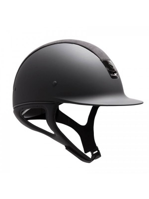 SAMSHIELD, Kask SHADOWMATT, ALCANTARA TOP, SHIELD SWAROVSKI, BLACK 24h
