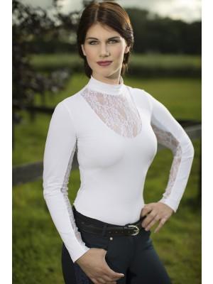 LAURIA GARRELLI. Koszula konkursowa z długim rękawem QUEENS LACE LONGSLEEVE