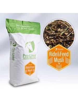 PRO-LINEN, Energetyczo-regeneracyjny koncentrat paszowy dla koni wyczynowych, RIDE&FEED MUSLI, 20kg