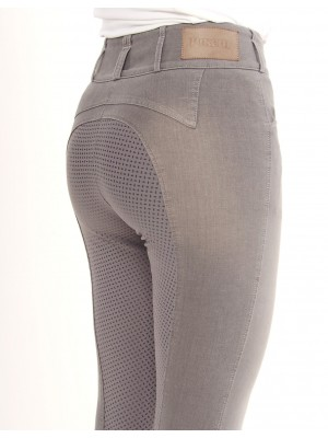 PIKEUR, Bryczesy damskie CANDELA GRIP JEANS, LIGHT GREY