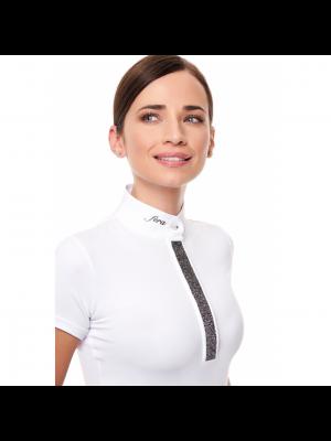 FERA, Koszulka konkursowa z krótkim rękawem STARDUST, WHITE/GREY