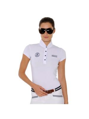 SPOOKS, Koszulka konkursowa z krótkim rękawem NADIA, WHITE 24h
