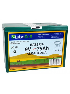 LUBACELL, Bateria alkaliczna 9V