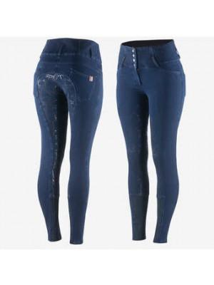 HORZE, Bryczesy zimowe jeansowe KASEY, LIMITED EDITION  24h