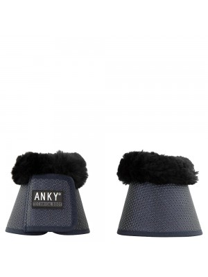 ANKY, Kalosze TECHNICAL z futrem, DARK NAVY