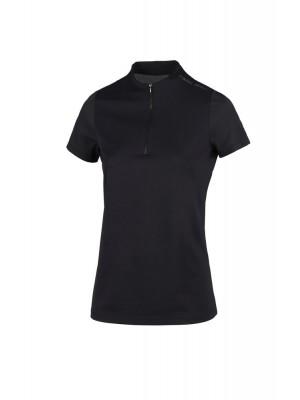 PIKEUR, Koszulka z zamkiem LINEE, BLACK