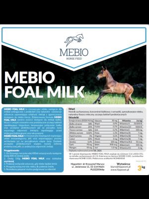 MEBIO, Mleko dla źrebiąt FOAL MILK, 3 kg