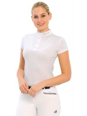 SPOOKS, Koszula konkursowa z krótkim rękawem TARAH, WHITE
